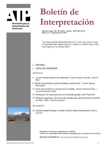 Boletín 19 Septiembre 2008
